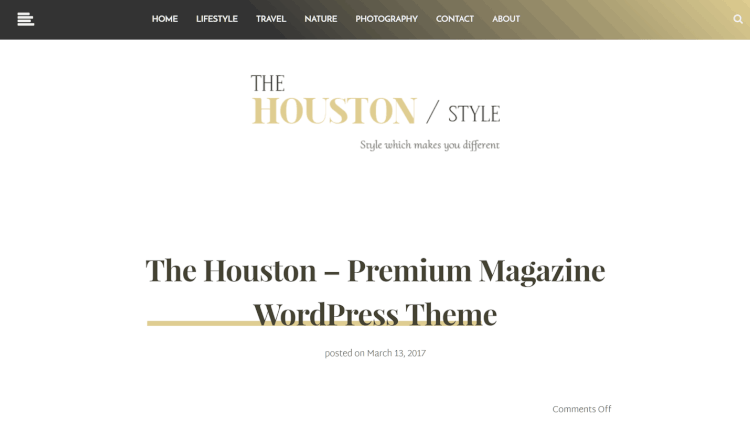 Houston - Elegant Magazine WordPress Theme