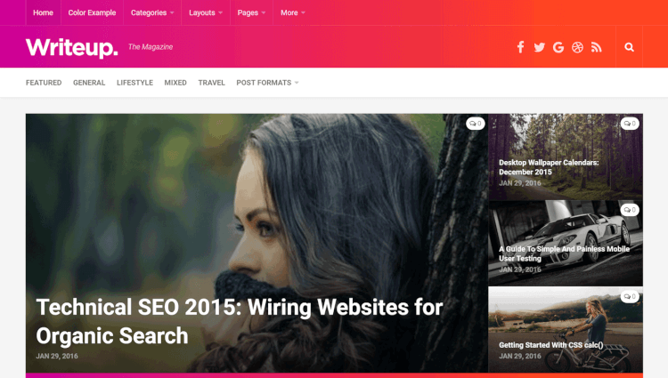 Writeup - Modern Magazine WordPress Theme
