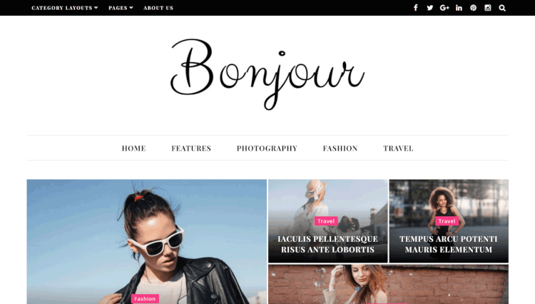 Bonjour - Multi-Purpose Magazine WordPress Theme