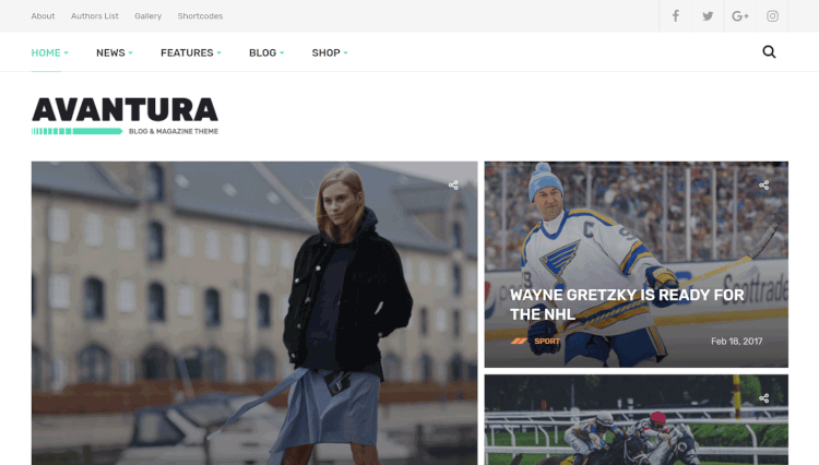 Avantura - Magazine and Blogging WordPress Theme