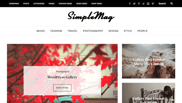 SimpleMag - Creative Magazine WordPress Theme