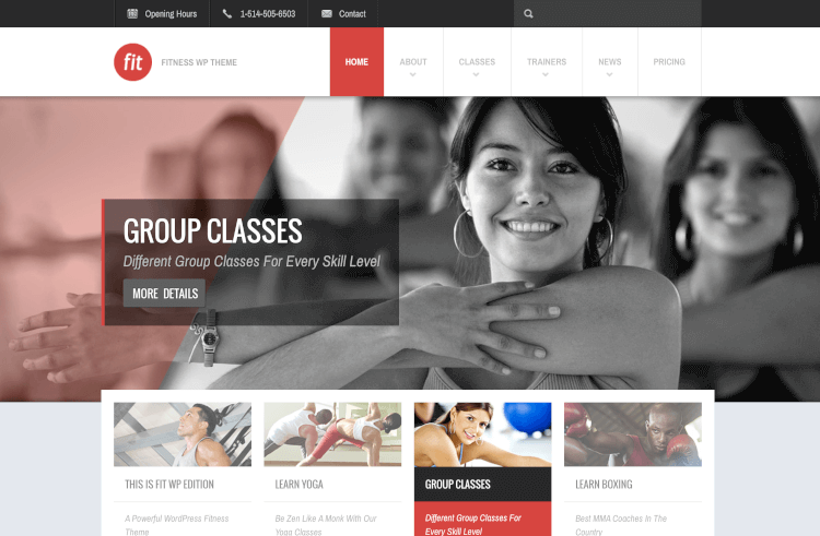 FIT - Fitness & Gym Responsive Theme