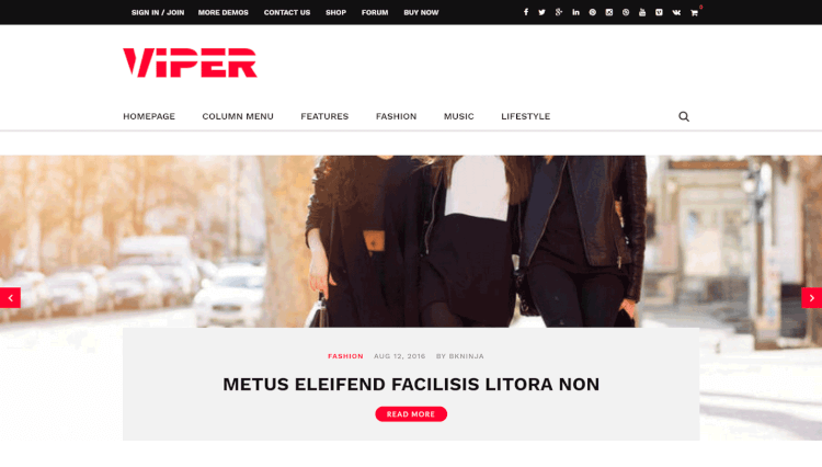 Viper - Multi-Purpose Reviews WordPress Theme