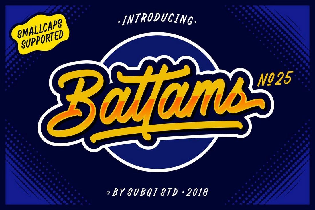 AMR Battams - Baseball Font