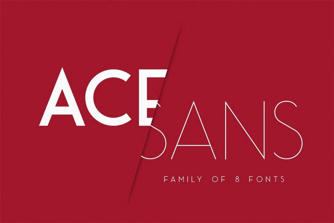 Ace Sans - Keluarga Font Geometris