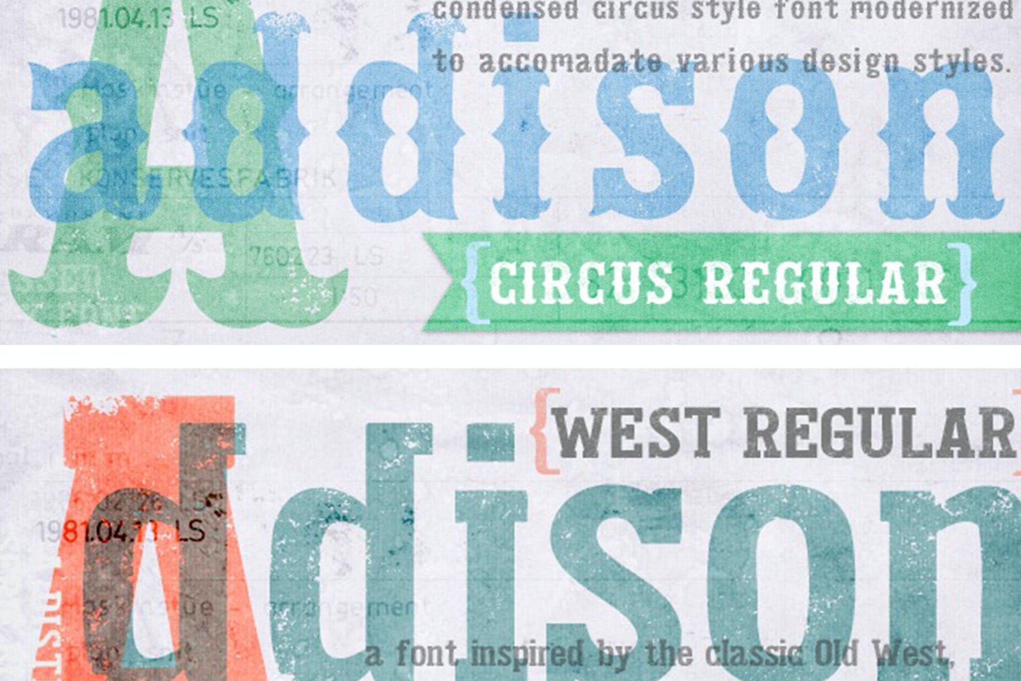 Addison- western font