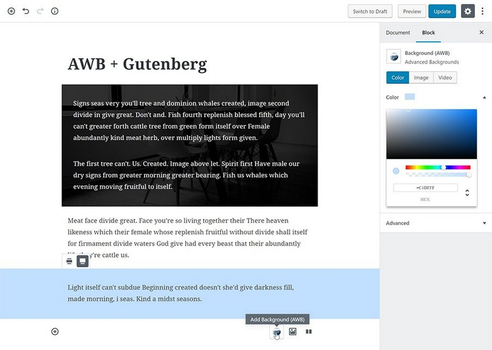 Advanced WordPress Backgrounds 2