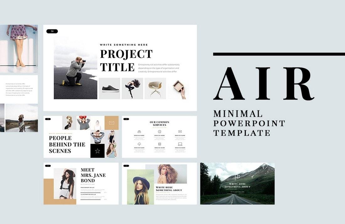 Air - Free Minimal PowerPoint Template