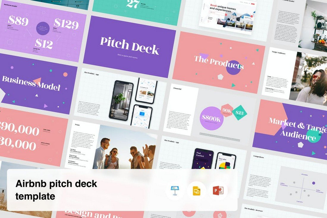 Airbnb Startup Presentations Pitch Deck Template