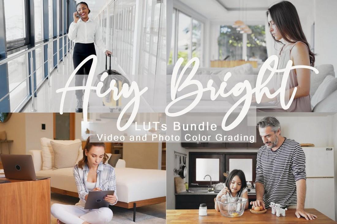 Paket Airy Bright LUTs untuk Premiere Pro