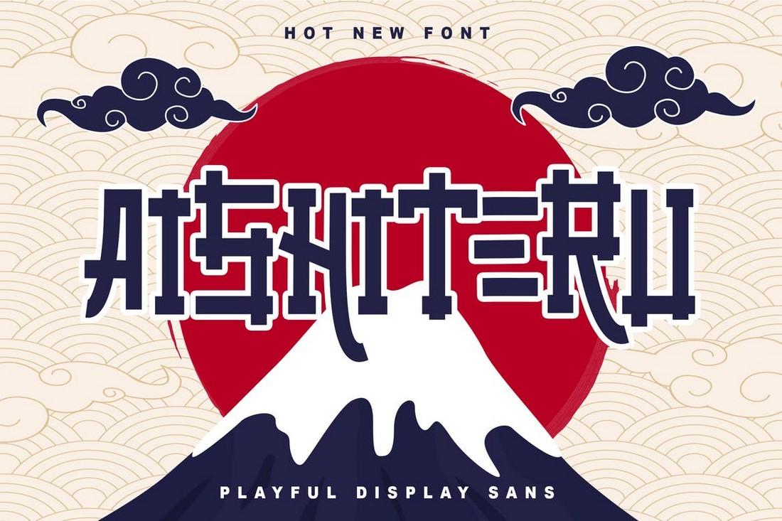 Aisiteru - Font Tampilan Jepang