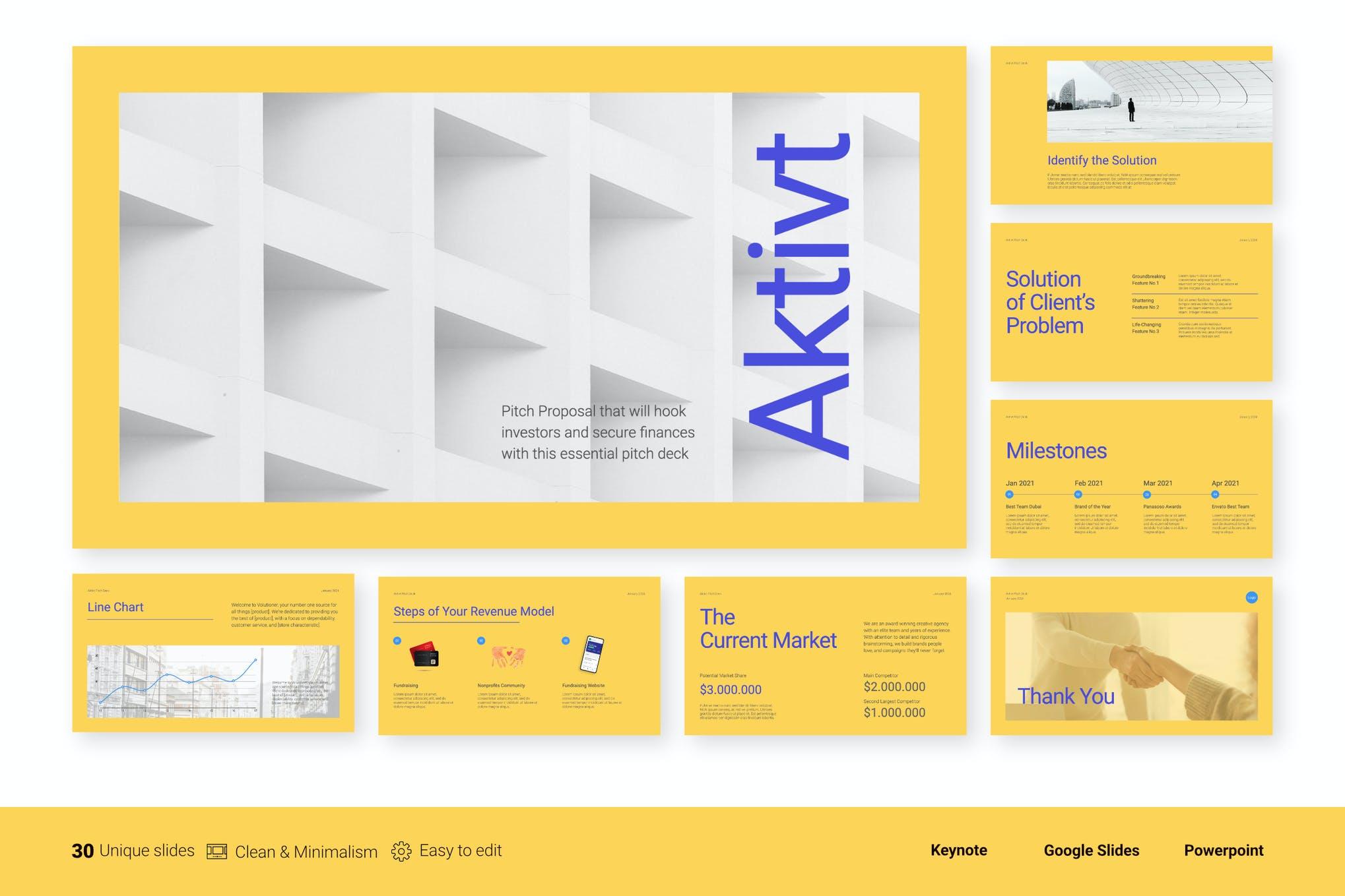 Aktivt - Pitch Deck Presentation
