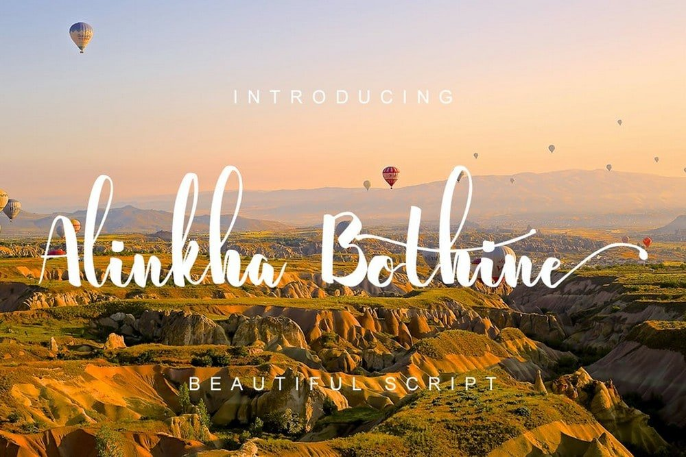 Alinkha Bothine - Script Font For Wedding Invitations