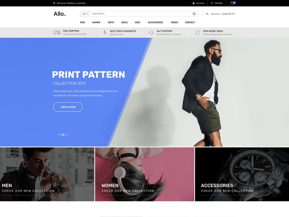 Allo - Free WooCommerce WordPress Theme