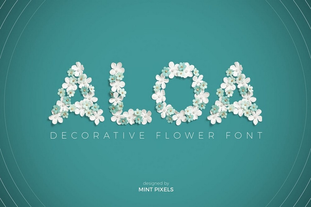 Aloa - Flower Font For Wedding Invitations