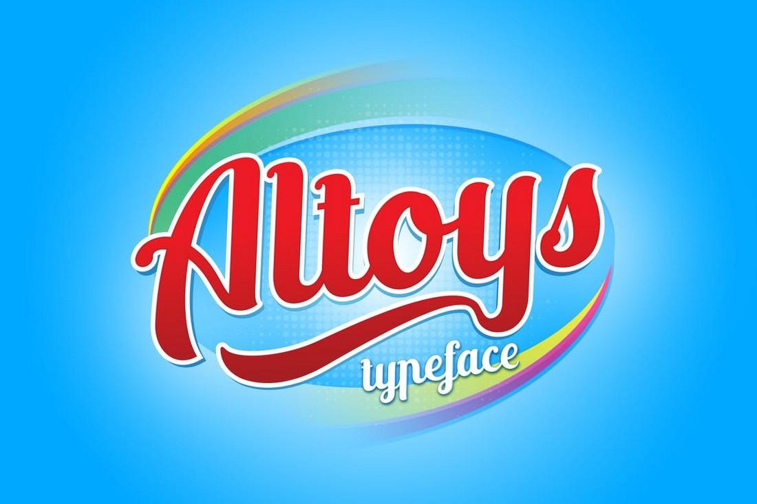 Altoys - Modern Baseball Font