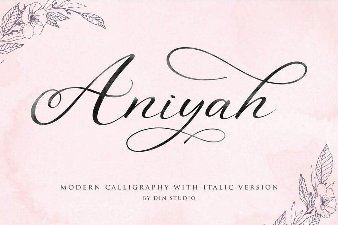 Aniyah - Calligraphy Script Wedding Font