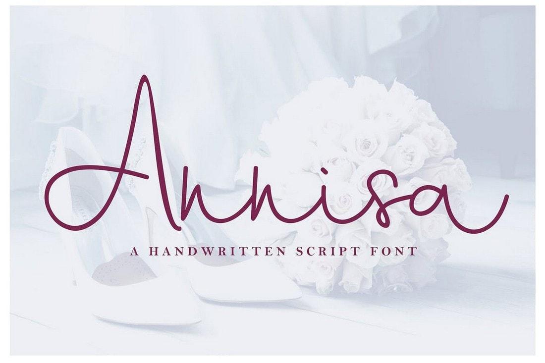 Annisa - Handwritten Cursive Script Font