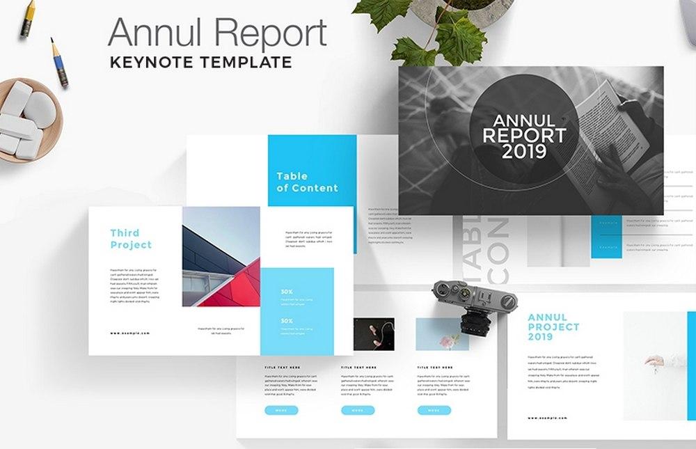 Annul Report - Template Keynote Gratis