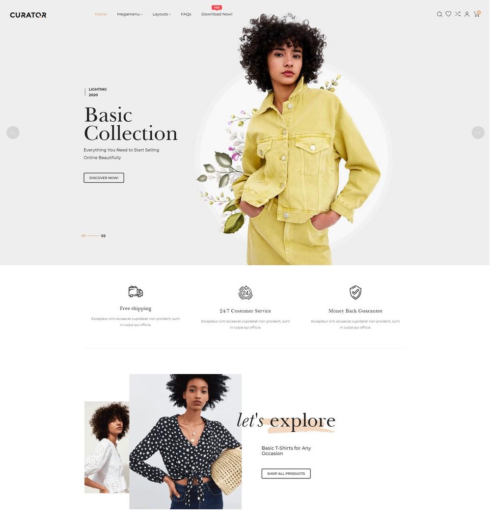 Ap-Curator free shopify theme