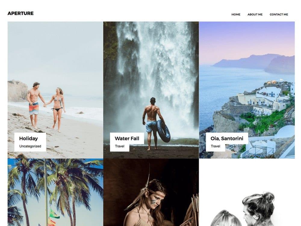 Portofolio Aperture - Tema Fotografi WordPress Gratis
