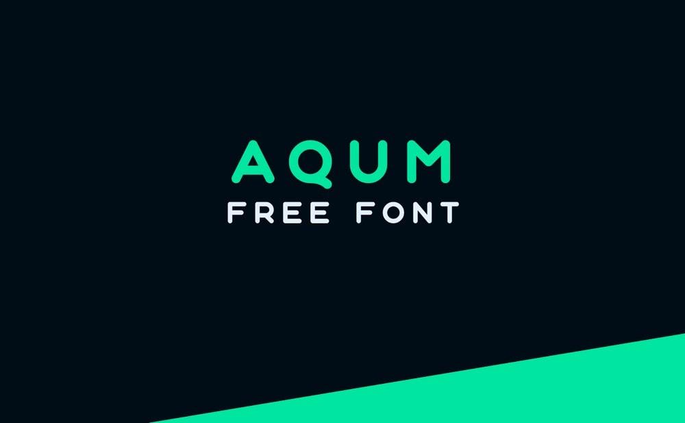 Aqum - Free Minimal Sans Logo Font