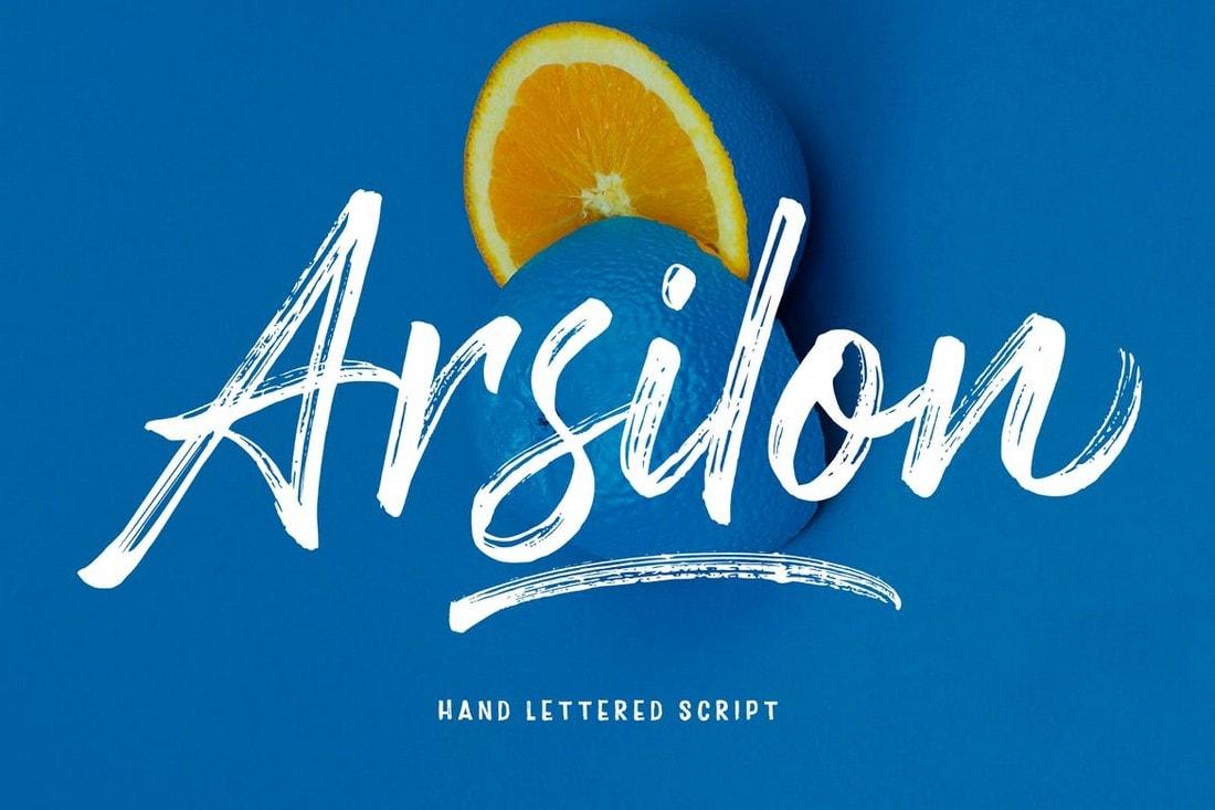 Arsilon - Creative Handwriting Brush Font