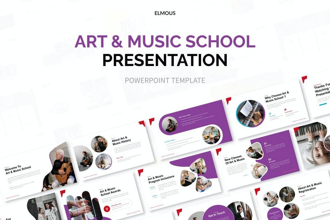 Templat Powerpoint Sekolah Seni Dan Musik