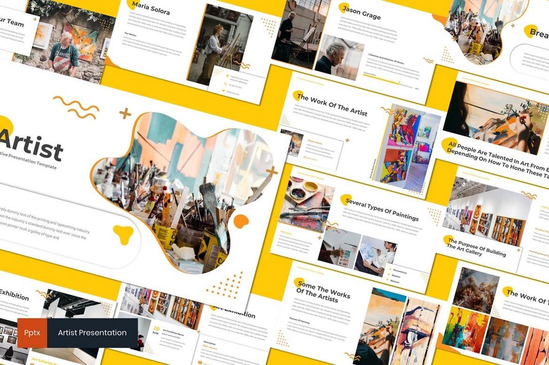 Artis - Template Powerpoint Portofolio Seni
