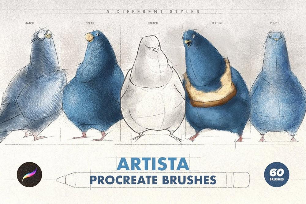 Artista - 60 Procreate Brushes