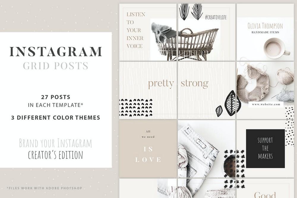 Arts & Crafts Instagram Grid Posts Template