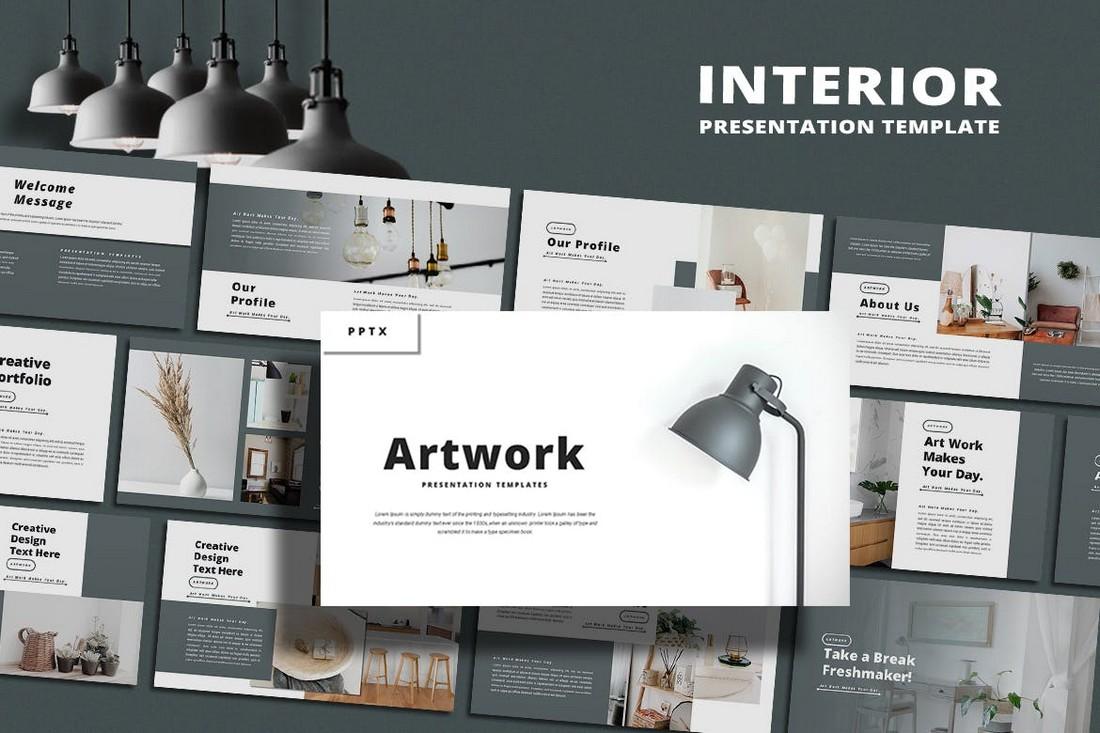 Karya Seni - Templat PowerPoint Desain Interior