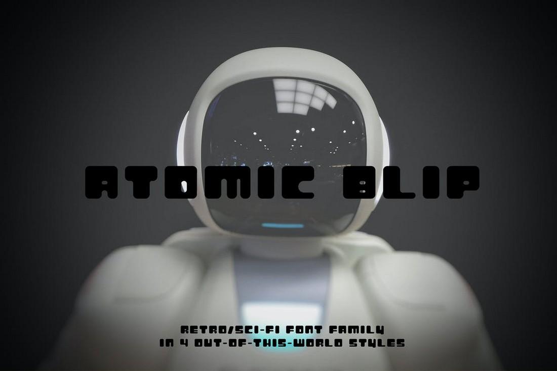 Atomic Blip - Retro Futuristic Font