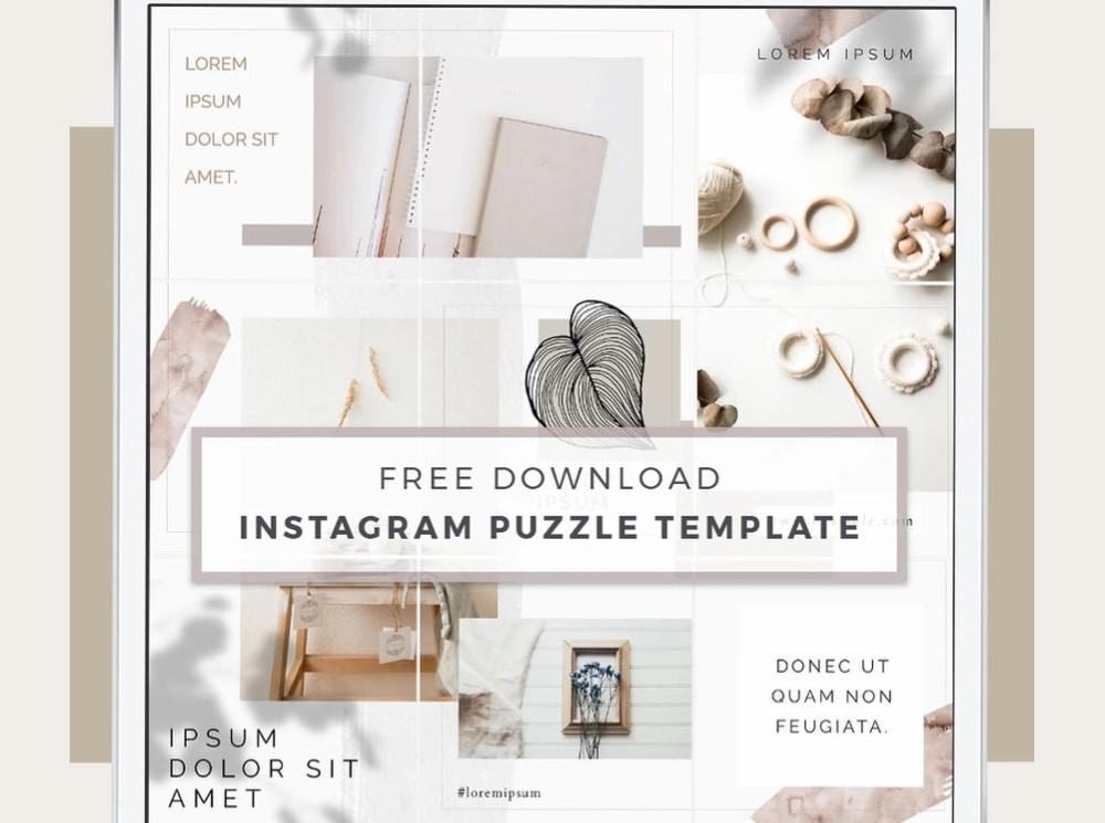 Aura - Free Instagram Puzzle Template