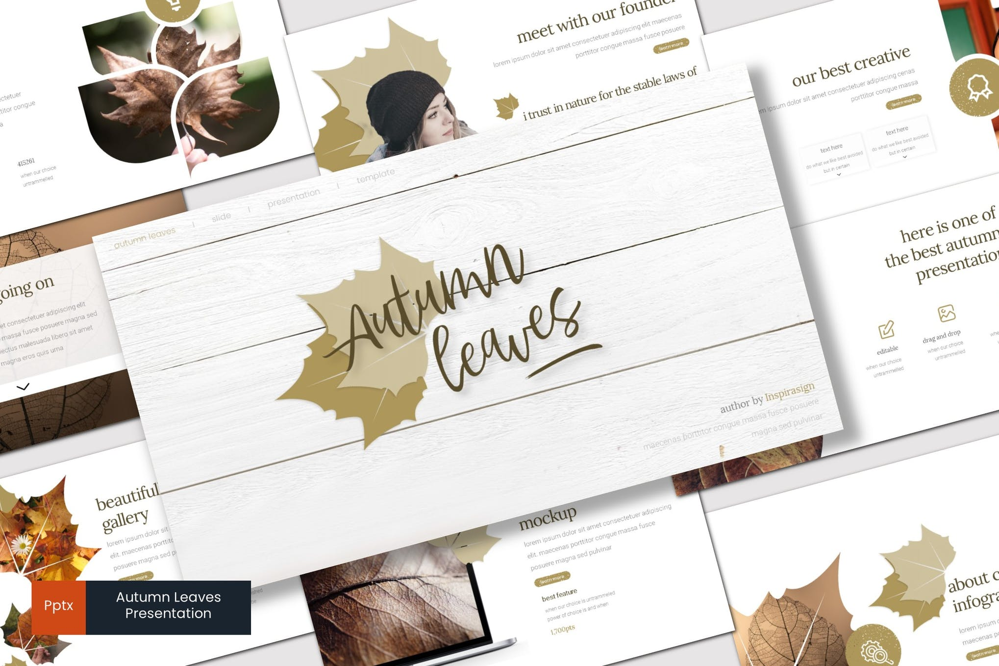 Autumn leaves - Powerpoint Template