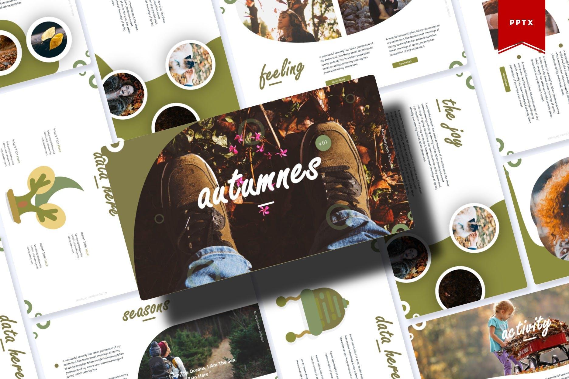 Autumnes Powerpoint Template