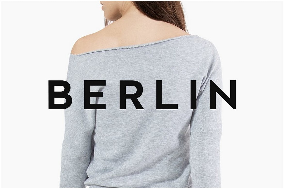 BERLIN - Clean Modern Poster Font