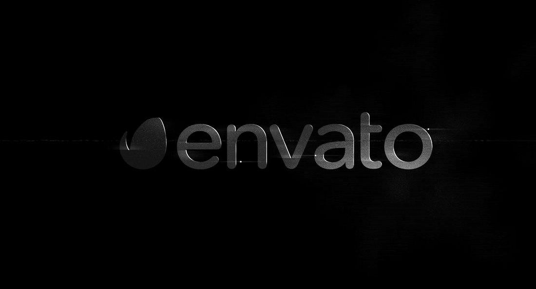 B&W - Glitch Logo Reveal Premiere Pro Template