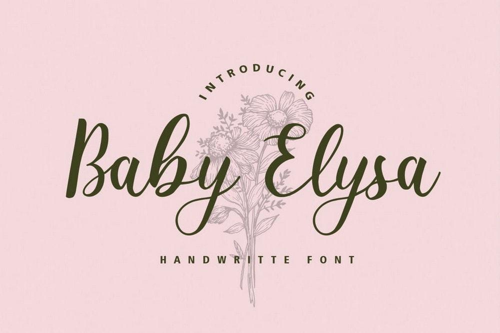 Baby Elysa - Font Pernikahan Vintage