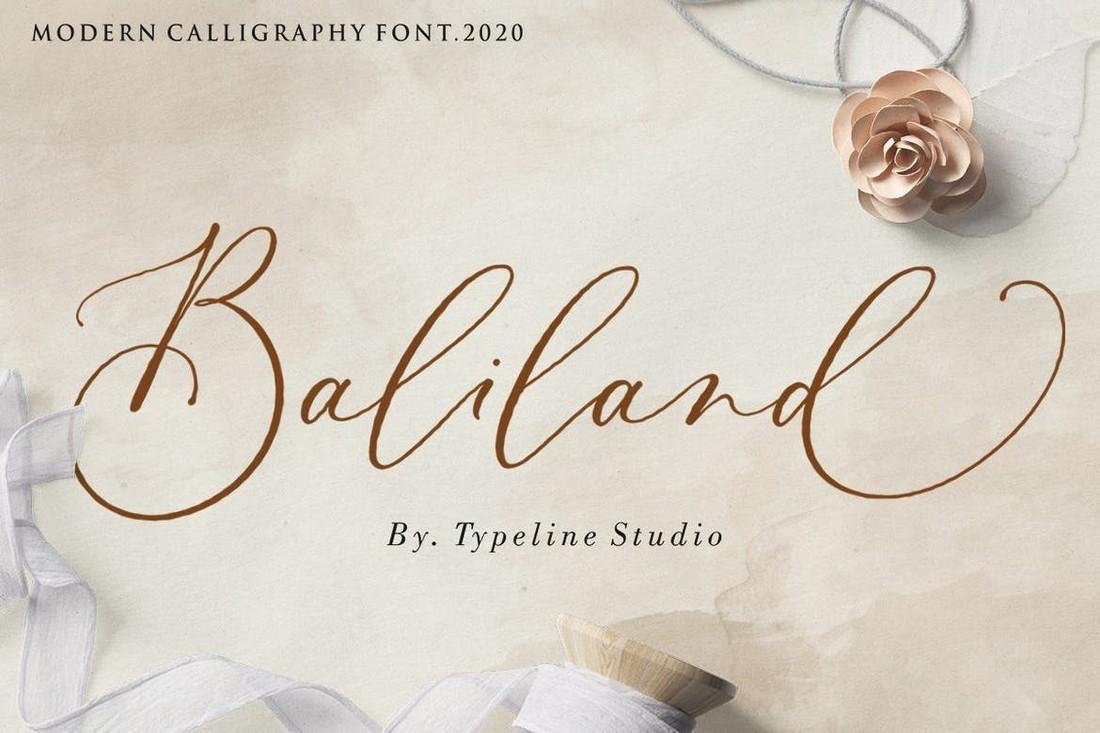 Baliland - Elegant Wedding Calligraphy Font