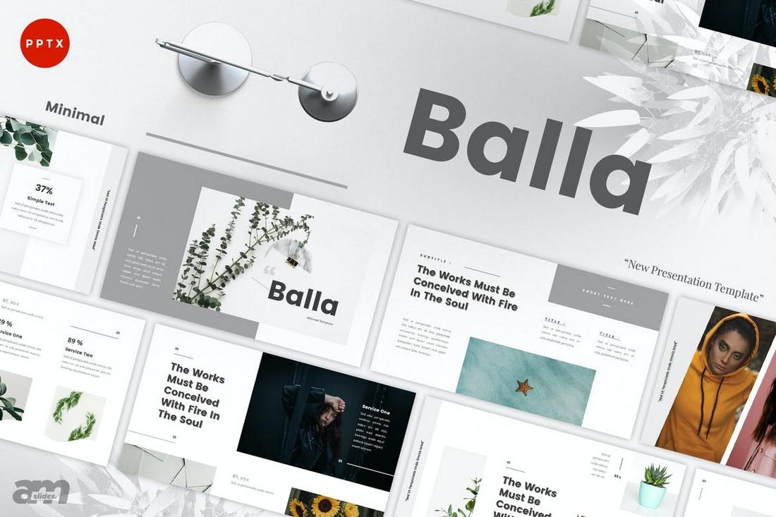 Balla - Minimal Powerpoint Template