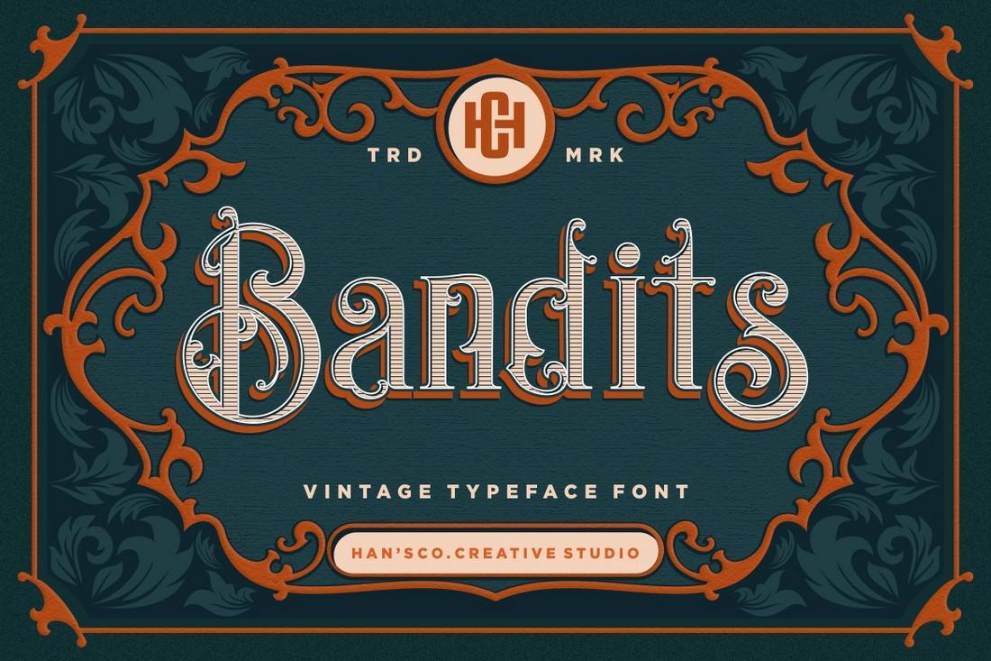 Bandit - Font Art Nouveau Gratis