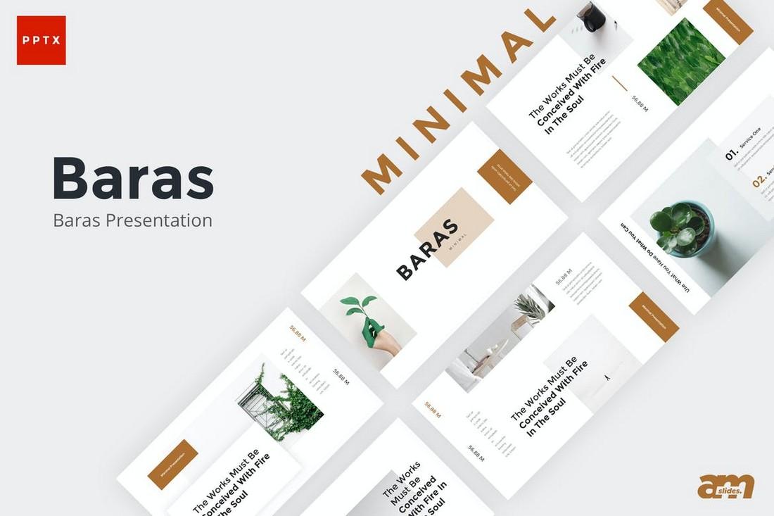Baras - Creative Minimal Powerpoint Template