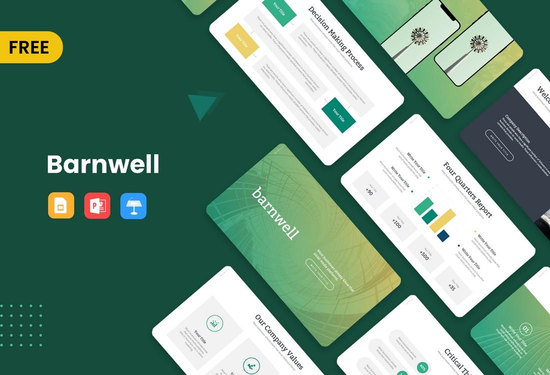 Templat PowerPoint Konsultasi Bisnis Gratis Barnwell
