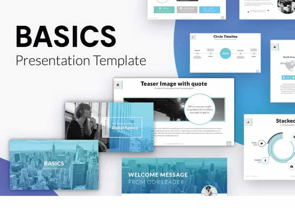 Basic - Free Minimal Keynote Template