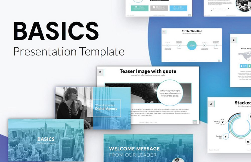Basics - Free Business Keynote Template