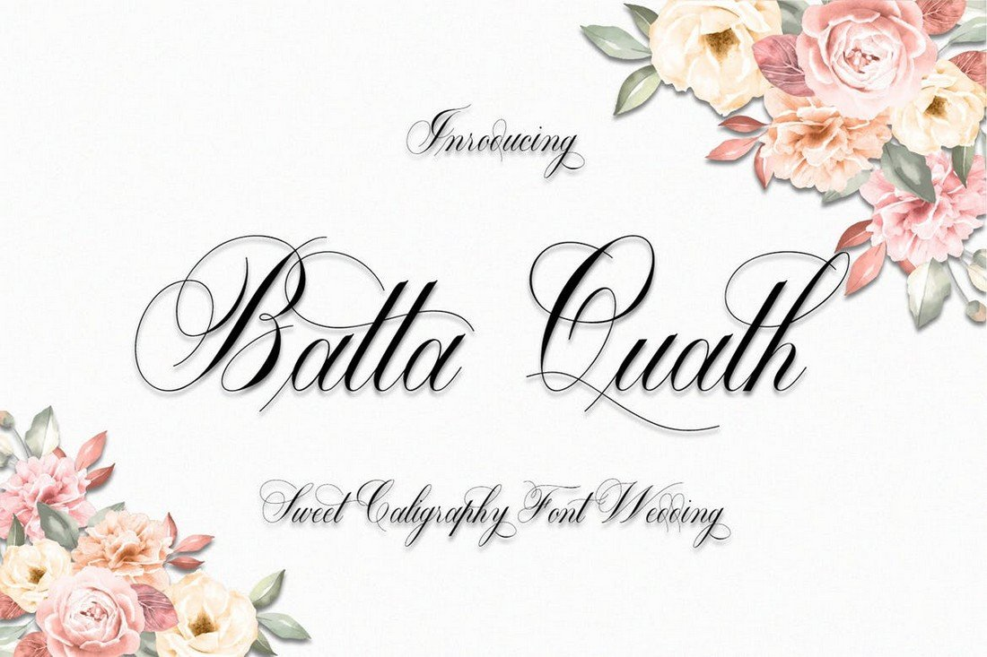 Batta Quath - Beautiful Wedding Calligraphy Font