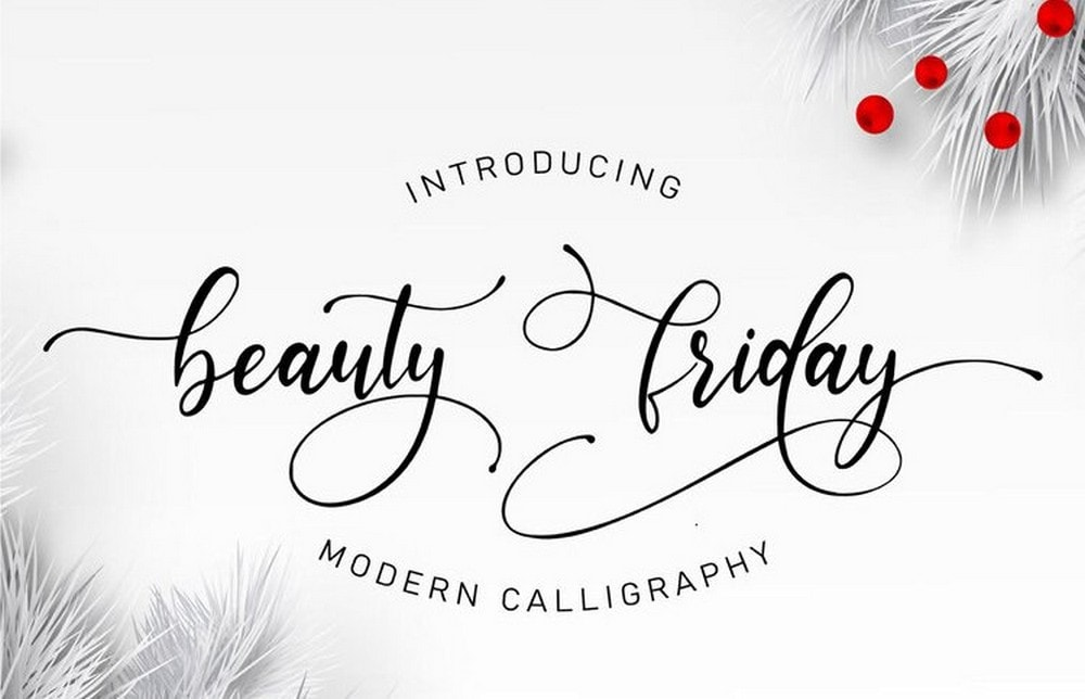 Beauty Friday - Free Wedding Font