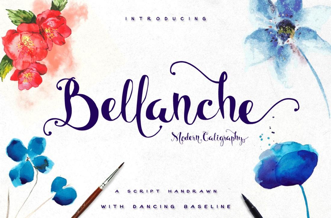Bellanche - Font Pernikahan Kaligrafi Gratis