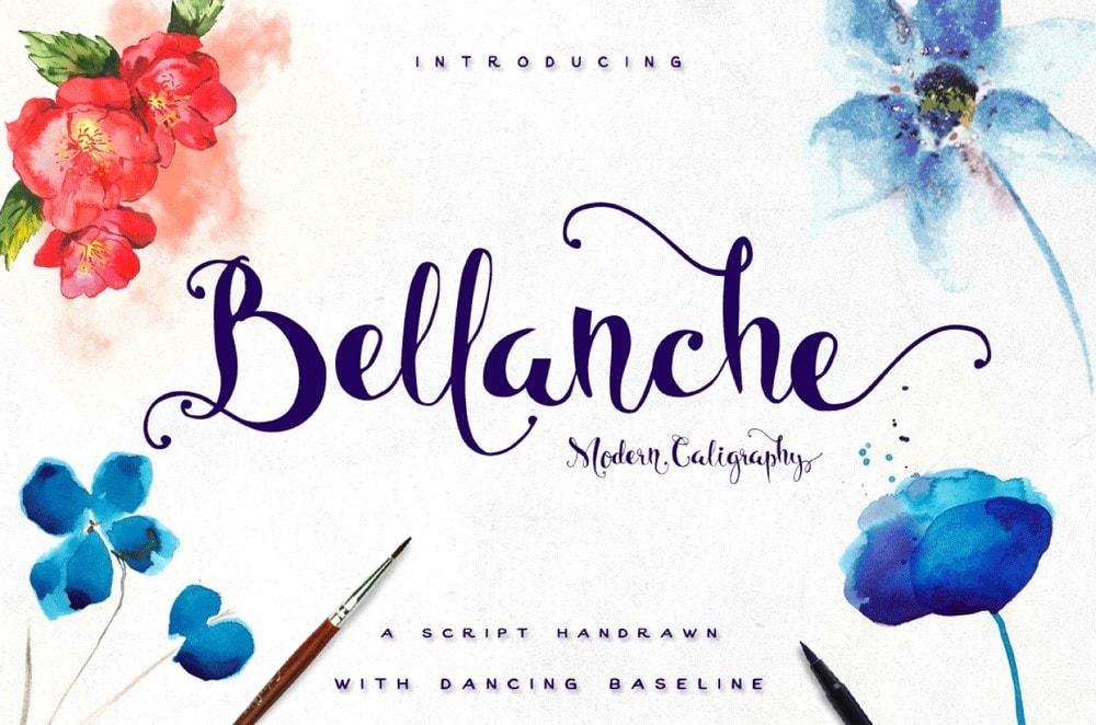 Bellanche - Font Pernikahan Gratis Buatan Tangan